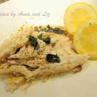 Bake or Roast Branzino with Lemon Garlic and Wine