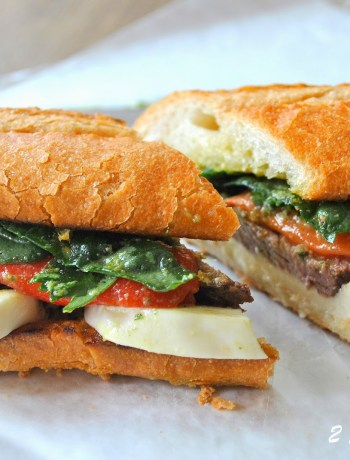 Steak and Cheese Sandwich by 2sistersrecipes.com