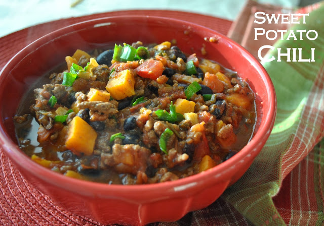 Sweet Potato Chili by 2sistersrecipes.com