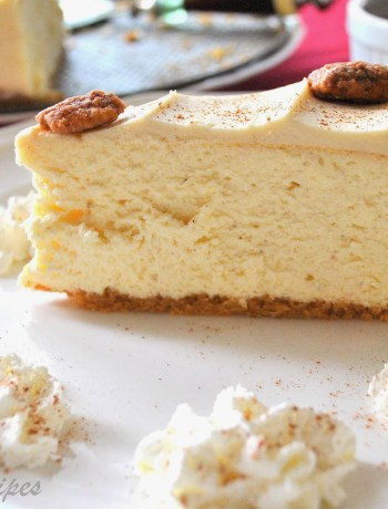 Eggnog Cheesecake by 2sistersrecipes.com