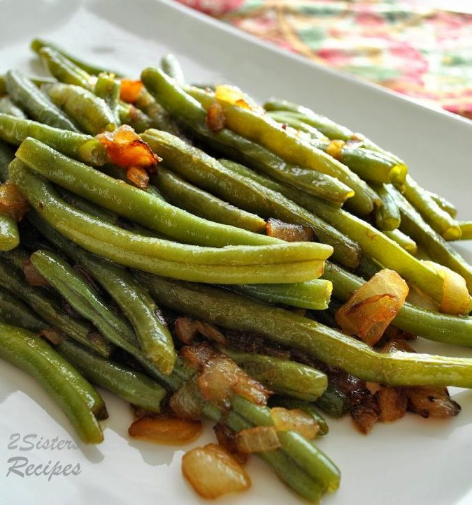 Sauteed Green Beans with Onions , 2sistersrecipes.com