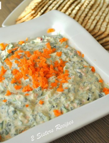 Carrot and Spinach Dip by 2sistersrecipes.com