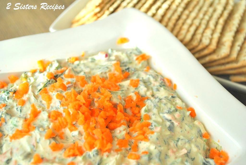 Carrot and Spinach Dip by sistersrecipes.com