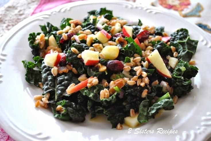 Kale and Farro Salad with Citrus-Honey Vinaigrette