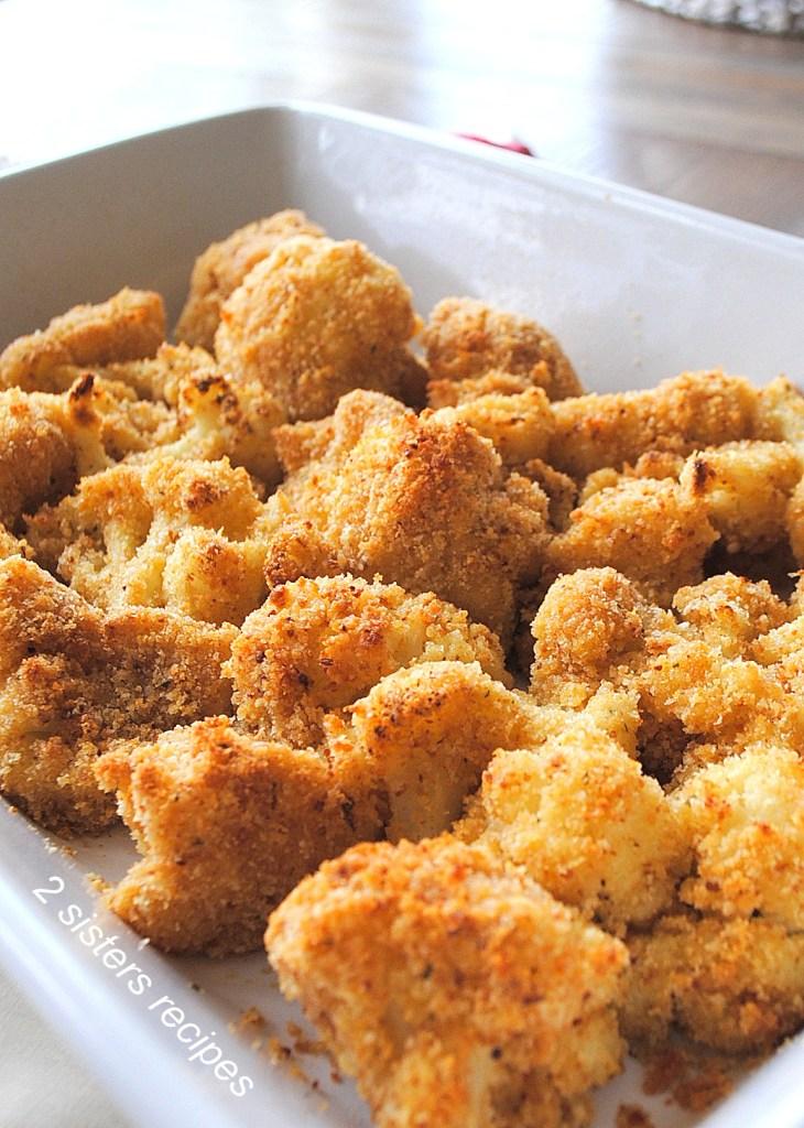 Roasted Cauliflower Au Gratin by 2sistersrecipes.com