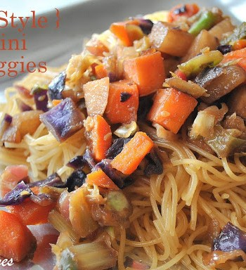 Stir-Fry Capellini with Vegetables by 2sistersrecipes.com
