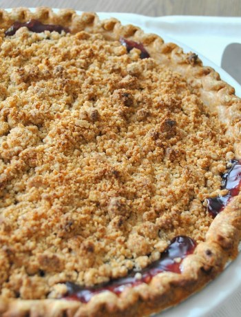 Blueberry Crumble Pie by 2sistersrecipes.com