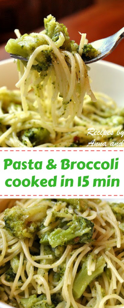 Pasta Cooked with Broccoil in 15 minutes! by 2sistersrecipes.com