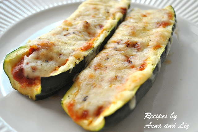 Zucchini Stuffed with Bolognese and Cheese