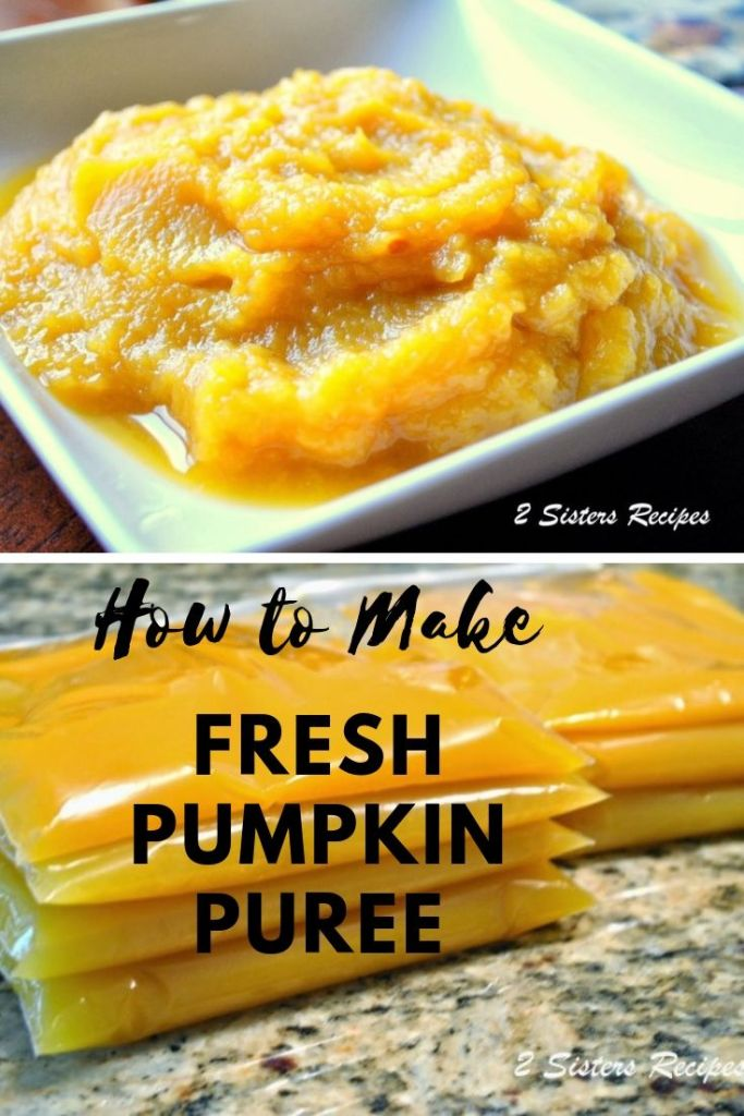 How to Make Fresh Pumpkin Puree by 2sistersecipes.com