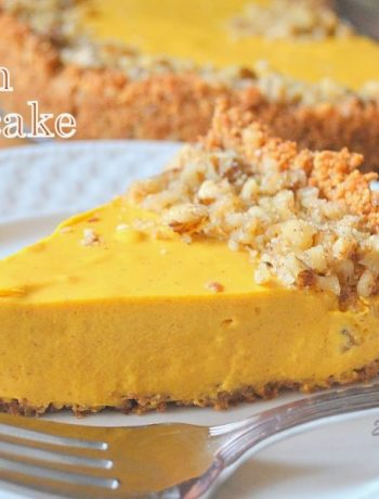 EASY No-Bake Pumpkin Cheesecake , by 2sistersrecipes.com