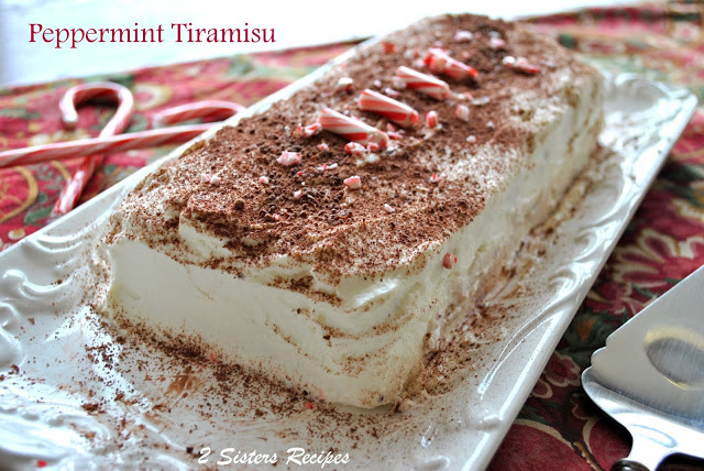 Easy Peppermint Tiramisu! https://2sistersrecipes.com