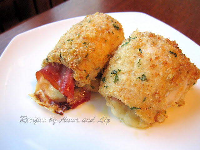 Chicken Rollatini with Prosciutto and Cheese by 2sistersrecipes.com
