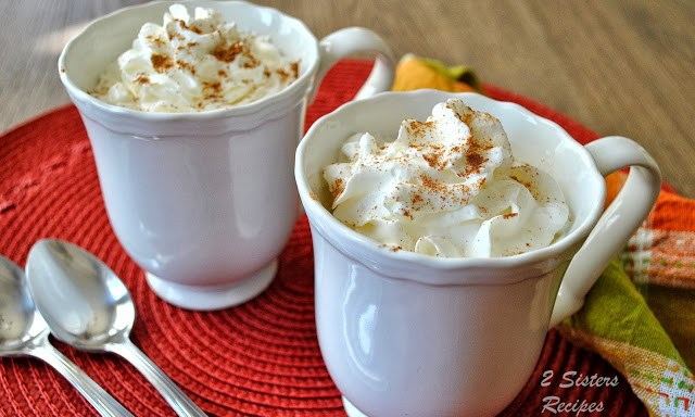 Pumpkin Spice Lattes Lightened! by 2sistersrecipes.com