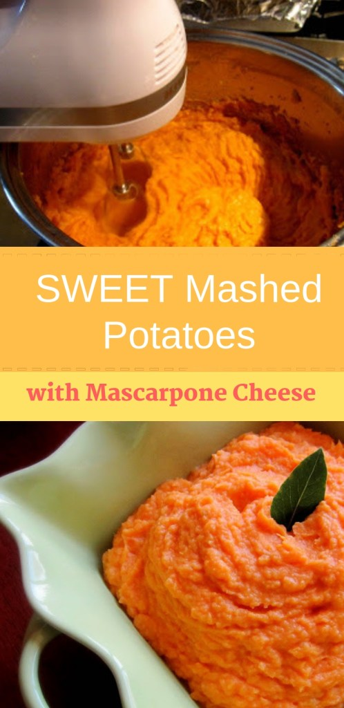 Sweet Mashed Potatoes with Mascarpone Cheese by 2sistersrecipes.com