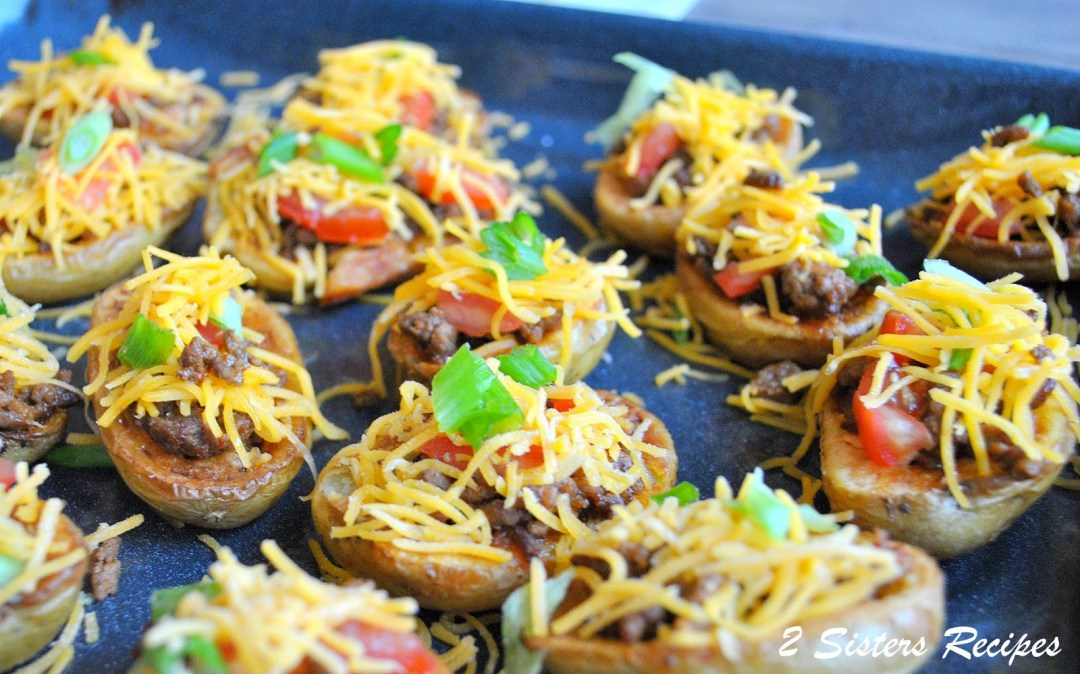 Potato Skin Bites by 2sistersrecipes.com