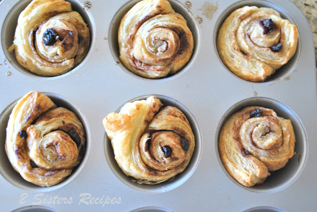 Cinnamon Rolls with Raisns and Walnuts by 2sistersrecipes.com