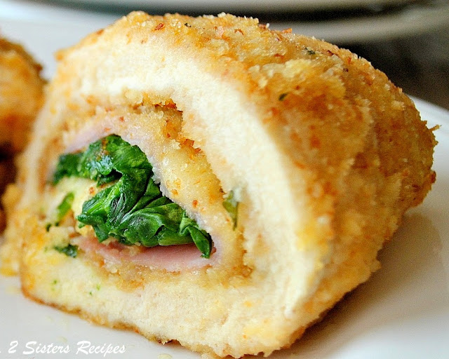 Chicken Rollatini with Ham Cheese and Spinach by 2sistersrecipes.com