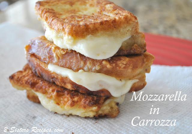 Mozzarella in Carrozza by 2sistersrecipes.com