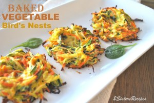 Baked Vegetable Bird's Nest by 2sistersrecipes.com