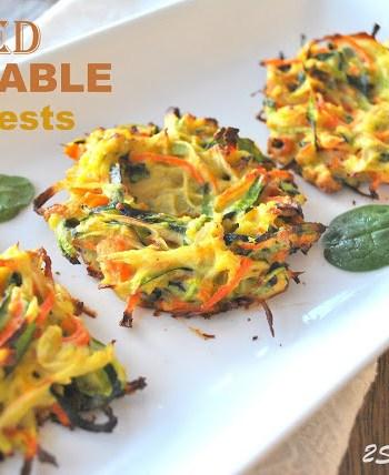 Baked Vegetable Bird's Nest by 2sistersrecipes.com