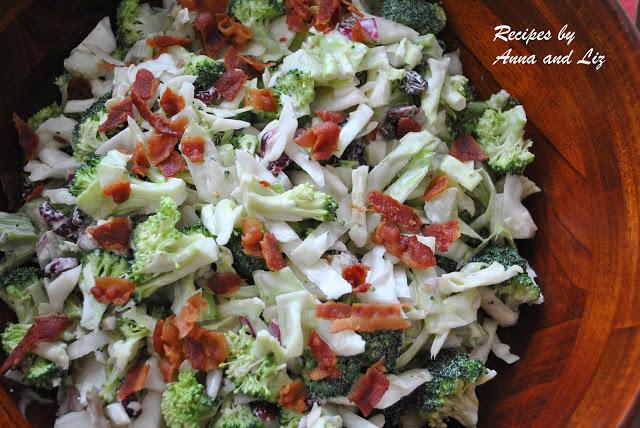Crunchy Broccoli Raisins nd Walnut Salad, by 2sistersrecipes.com