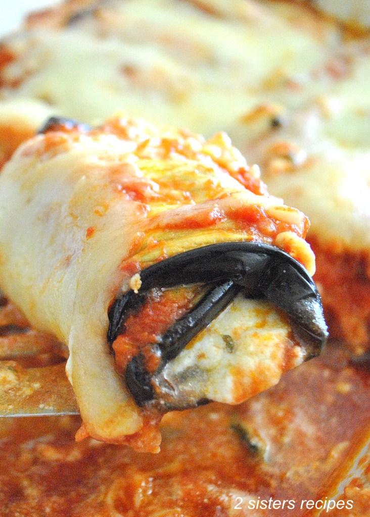 "Best Eggplant ""Manicotti"" Casserole by 2sistersrecipes.com"