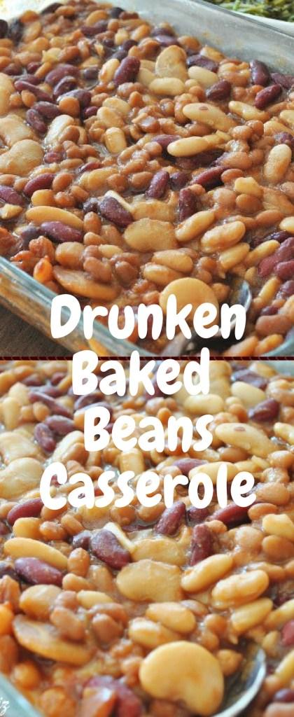 Drunken Baked Beans Casserole by 2sistersrecipes.com