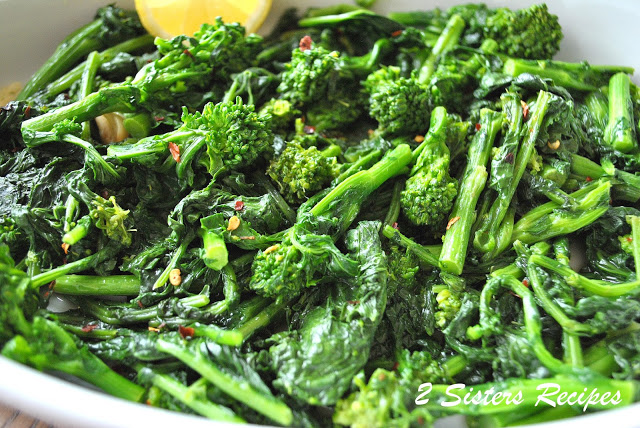 Broccoli Rabe Steamed and Sauteed