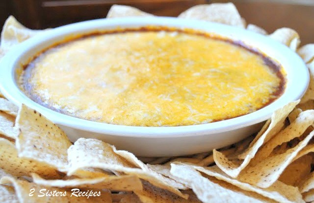 Hot Chili Cheese Dip by 2sistersrecipes.com