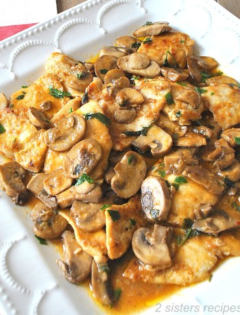 Chicken Smothered with Marsala Mushrooms and Parsley by 2sistersrecipes.com
