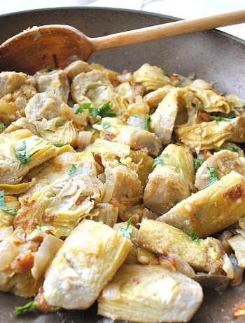 Easy Artichokes Gratin by 2sistersrecipes.com