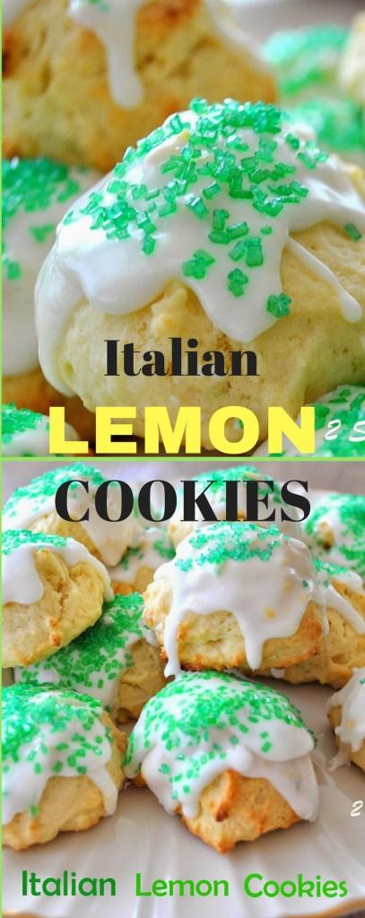 Italian Lemon Cookies by 2sistersrecipes.com