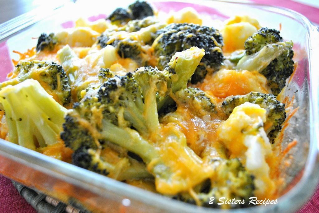 Baked Kale, Broccoli, Cauliflower with Cheese by 2sistersrecipes.com