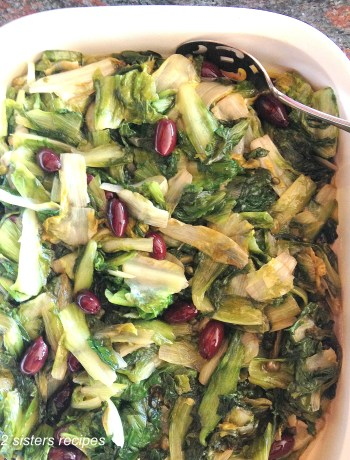 Mom's Sauteed Escarole by 2sistersrecipes.com