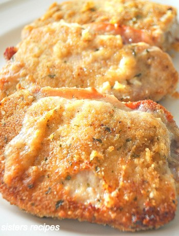 Baked Stuffed Pork Chops by 2sistersrecipes.com
