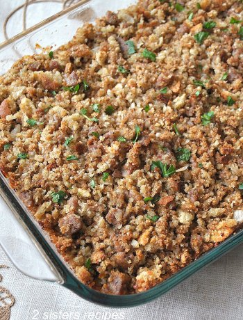 Thanksgiving Stuffing-Sicilian Style! by 2sistersrecipes.com