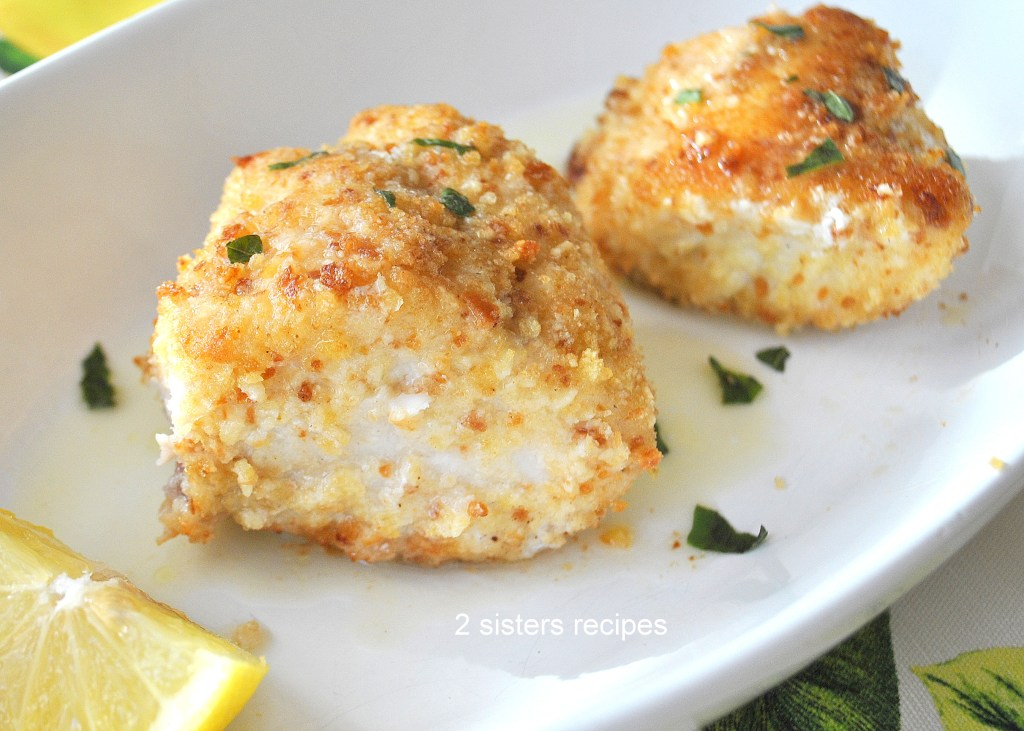 Baked Halibut & Sea Bass Oreganata by 2sistersrecipes.com