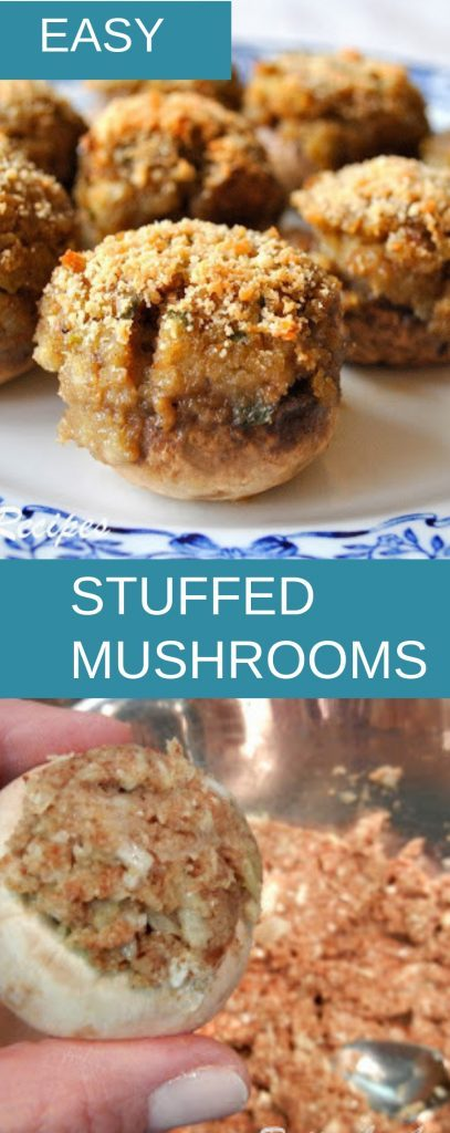 Easy Stuffed Mushrooms by 2sistersrecipes.com