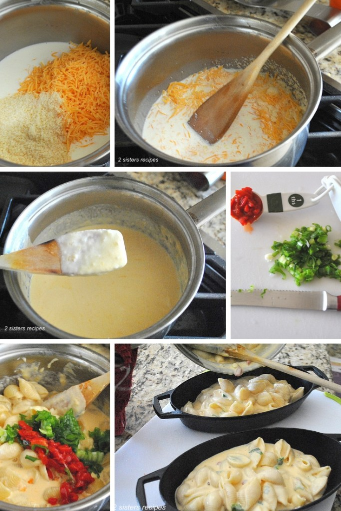 Pimento Mac and Cheese by 2sistersrecipes.com