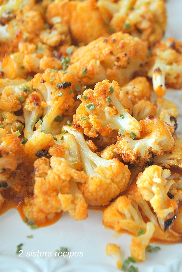 Cauliflower Wings with Buffalo Sauce by 2sistersrecipes.com