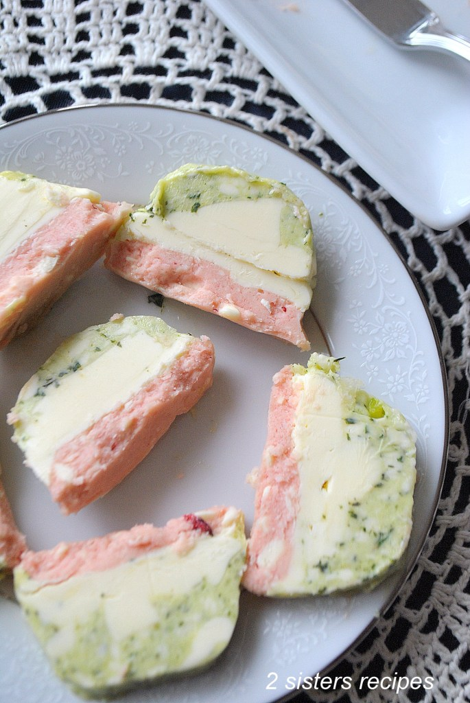 Tri Color Butter Terrine by 2sistersrecipes.com