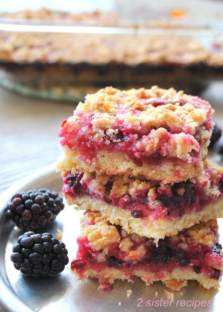 Blackberry Lemon Crumble Bars by 2sistersrecipes.com