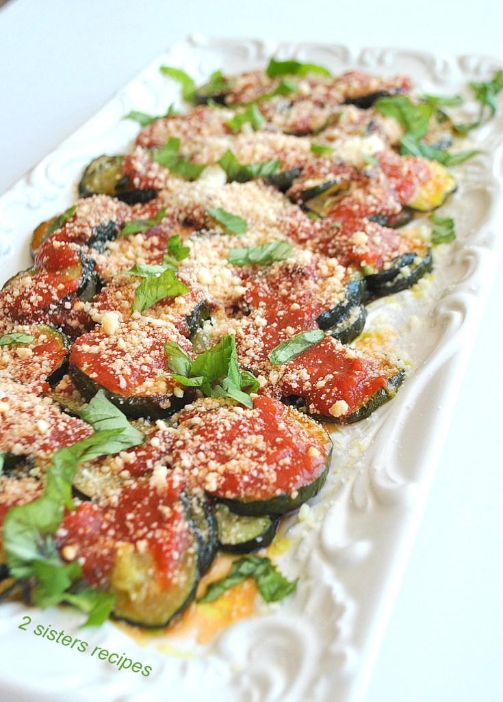 Roasted Zucchini Parmesan Lightened!