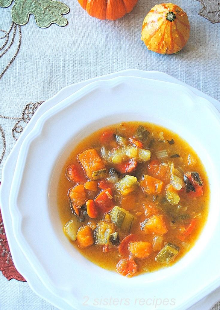 Butternut Squash Zucchini Soup by 2sistersrecipes.com