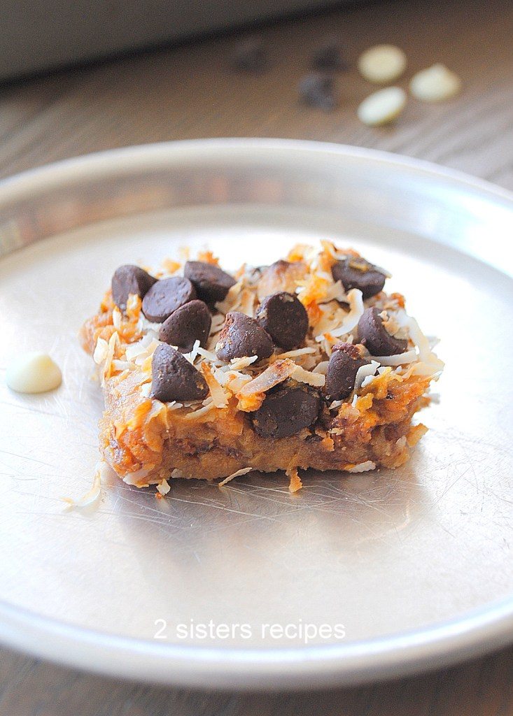 Gluten Free Pumpkin Magic Bars by 2sistersrecipes.com