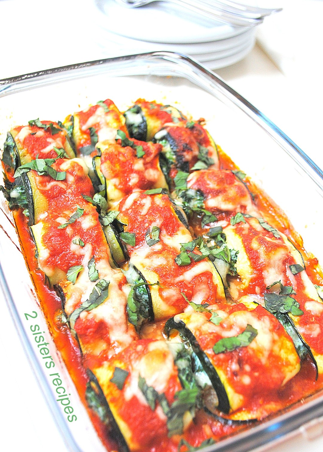 Zucchini Rollatini with Spinach and Cheese by 2sistersrecipes.com