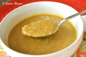 Easy Brussels Spouts Soup by 2sistersrecipes.com
