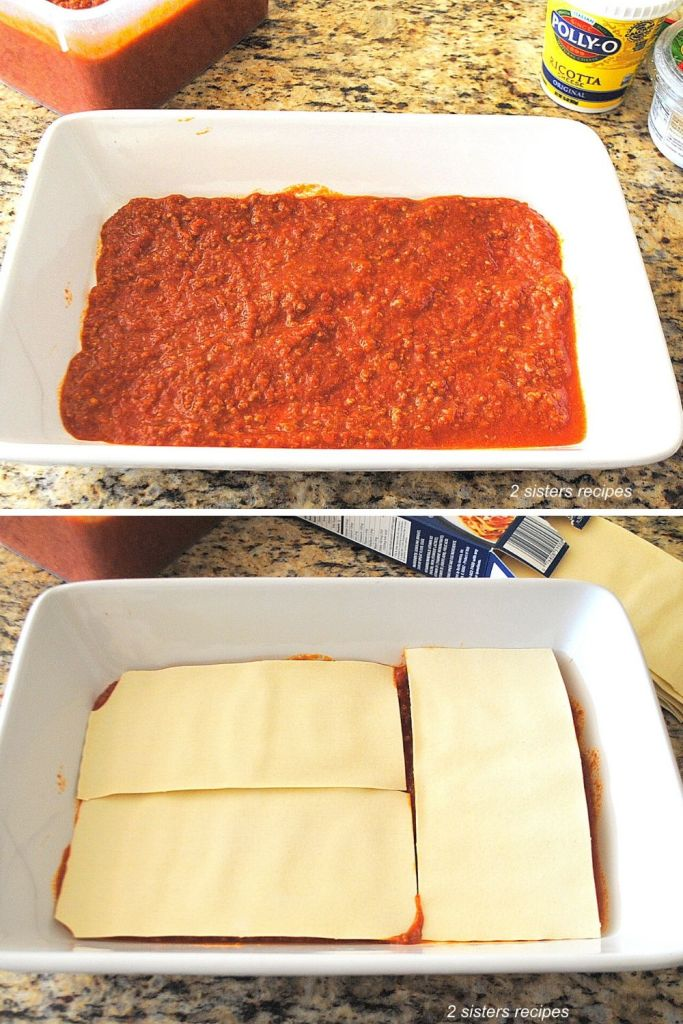 Bow to Make Lasagna with No Boil Noodles by 2sistersrecipes.com