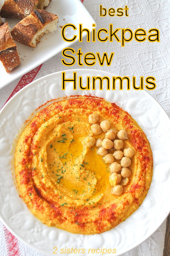 Best Chickpea Stew Hummus by 2sistersrecipes.com